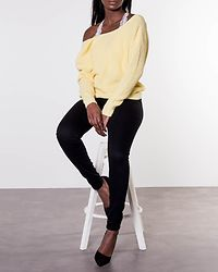 Damaris Knitted Sweater Light Yellow