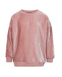 Sweatshirt Velvet Pliss Rose Dusty
