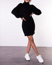 Siesta Roll Neck Knit Dress Black