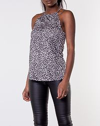 Ruthie High Neck Top White/Black/Leopard