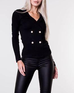 Matera Buttoned Top Black