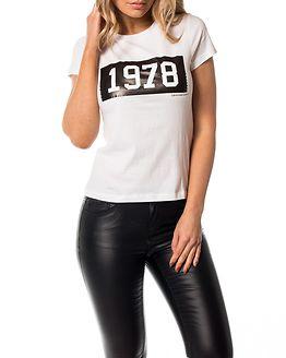 Tamar-50 Tee Bright White/Black