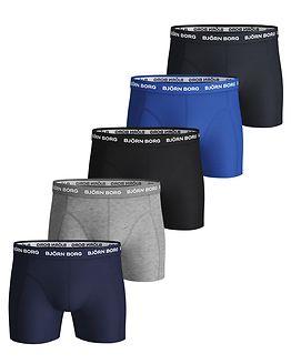 5-Pack Shorts Sammy Solid Blue Depths
