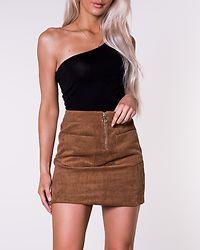 Cordatine High Waist Short Skirt Tobacco Brown