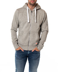 Osaka Embossed Ziphood Grey Grit
