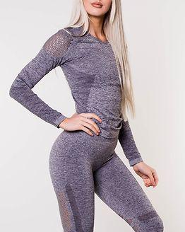 Seamless Long Sleeve Grey Melange