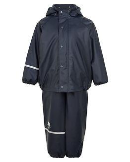 Rainwear Solid Jacket & Pants Navy