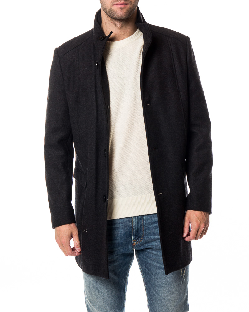 Selected Homme Mosto Wool Coat Dark Grey Melange Men S Jackets Houseofbrandon Com