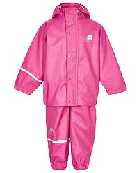 Basic Rainwear Suit -Solid Real Pink