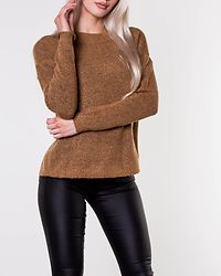 Rana O-Neck Blouse Tobacco Brown