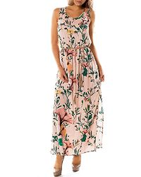 Mary Maxi Dress Rose Smoke/Flower