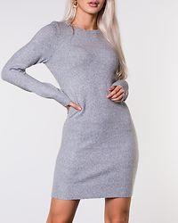 Doffy O-Neck Dress Light Grey Melange