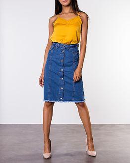 Be Blair Button Skirt Light Blue Denim
