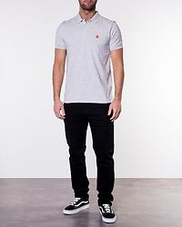 Aro Embroidery Polo Gray Violet
