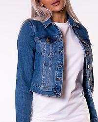 Faith Slim Denim Jacket Medium Blue Denim