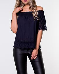 Shery Anglaise Off Shoulder Top Night Sky