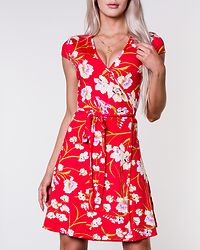 Sonnet Mini Wrap Dress Red/Floral