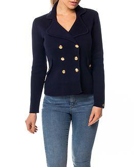 Chiara Heavy Knit Blazer Dark Blue