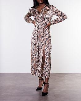 Celinen Maxi Dress Almond Milk/Snake