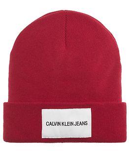 Calvin Klein Jeans Beanie High Risk Red