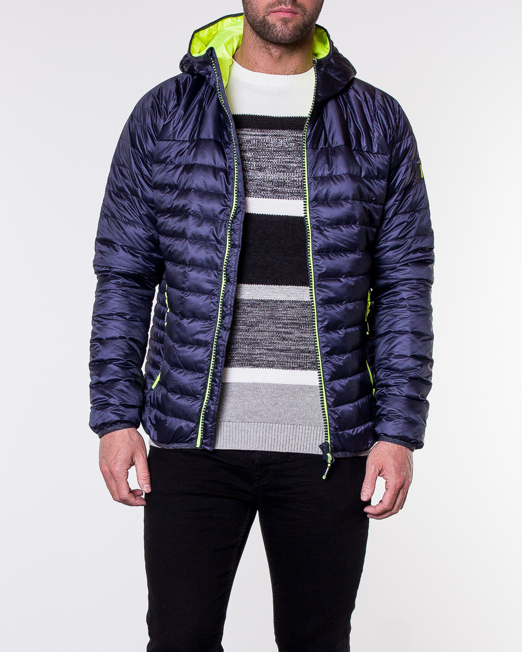8c002df0e631 ... Chromatic Core Down Jacket Navy Marl. Do you need help choosing the  size or color?