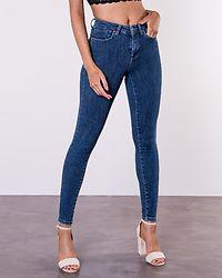 Power Mid Push Up Skinny Jeans Dark Blue Denim