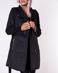 Twodope Belt Wool Jacket Dark Grey Melange