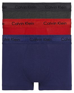 3-Pack Low Rise Trunk Manic Red/Shilo Blue/Charcoal
