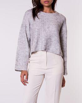 Allum O-Neck Knit Light Grey Melange
