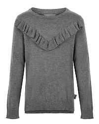 Pullover Wool Mid Grey Melange