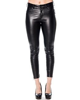 Domino Black Vegan Leather