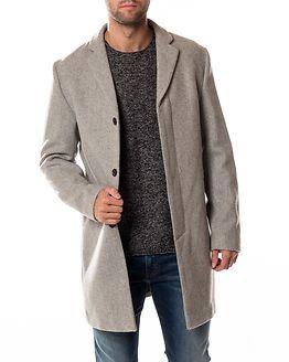 Brove Wool Coat Light Grey Melange