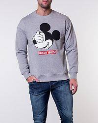 Mickey Sweat Crew Neck Light Grey Melange