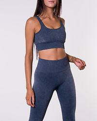 Ocean Washed Ribbed Seamless Bra Blue