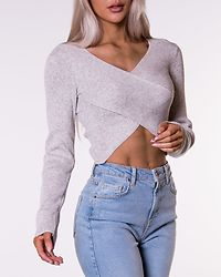 Crossover Sweater Grey