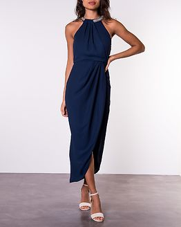 Cernobio Long Dress Navy