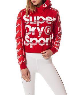 Sports Crop Hoody Hyper Red