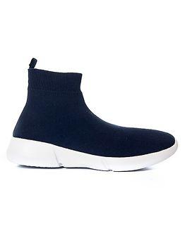 Knit Sneaker High Blue