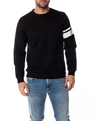 Stripe Crew Neck Black