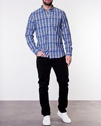 Colored Check Chambray Maritime Blue/ Multi