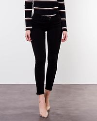 New Five Skinny Ankle Zipper Pant Black