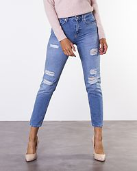 Ashley Cigarette Ankle Jeans Medium Blue Denim