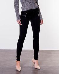 Royal Zip Skinny Jeans Black
