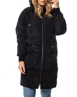 Moka L/S Long Down Jacket Black