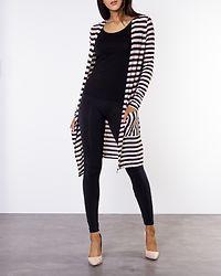Kia Honie Stripe Cardigan Birch/Red/Black/Oatmeal