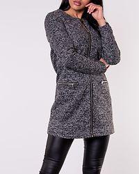 Besty Zip Jacket Dark Grey Melange